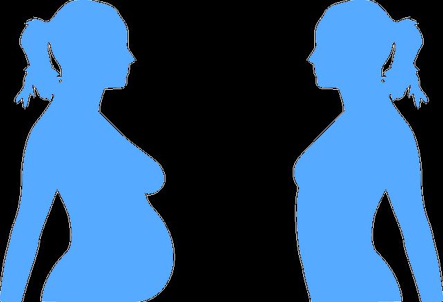 silueta těhotenství