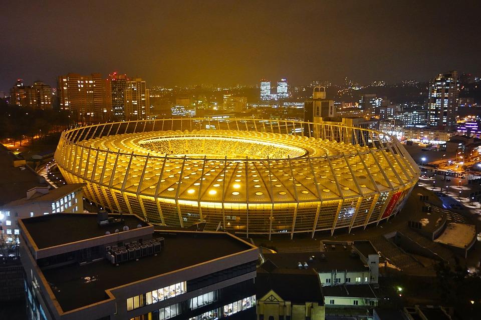 olympijský stadion ve městě